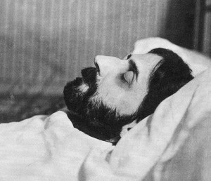 Marcel Proust on his deathbed, Man Ray