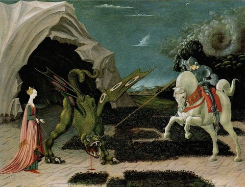 "Paolo Uccello — ""Saint George & the Dragon"", the National Gallery of London (c. 1470)"