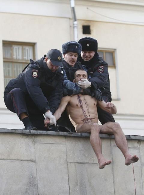 Petr Pavlensky, 19 October 2014
